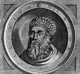 """Herod (37 B.C.E. – 4 B.C.E.), also known as Herod the Great and Herod I, was a Roman client king of Judea, referred to as the Herodian kingdom. He has been described as """"a madman who murdered his own family and a great many rabbis"""", """"the evil genius of the Judean nation"""", """"prepared to commit any crime in order to gratify his unbounded ambition"""", and """"the greatest builder in Jewish history"""". He is known for: his colossal building projects throughout Judea, including his expansion of the Second Temple in Jerusalem (Herod's Temple), the construction of the port at Caesarea Maritima, and the fortresses at Masada and Herodium."""